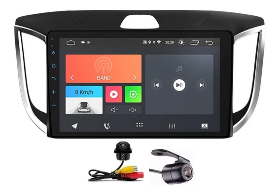 Central Multimídia Creta 17 A 20 Android 10 Bluetooth 2 Câm