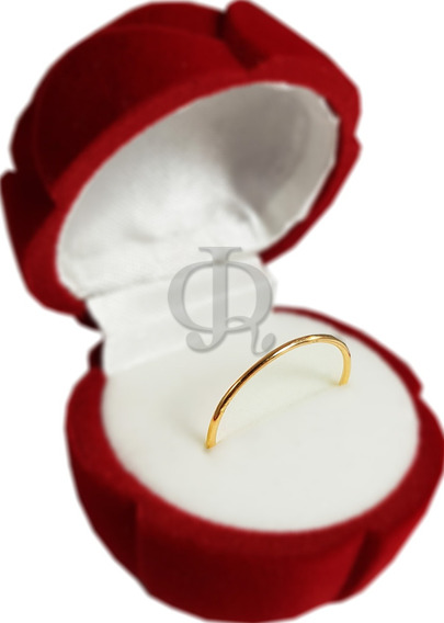 Alianza Anillo Hilo Oro 18k Compromiso Aniversario Ah001