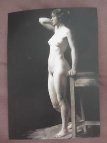 Nu Feminino Antigo Cartão Postal - Reprodução 2017