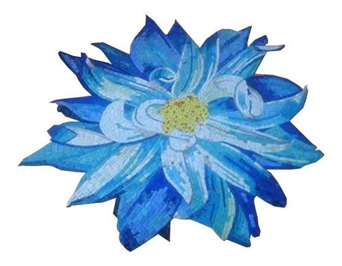 Imagen 1 de 10 de Mosaico Flor Dalia De 1.00 Mt. De Diametro Para Alberca O