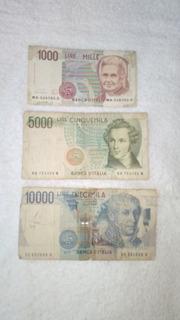 Billetes Lire Cinquemilla Diecimilla Para Coleccionistas