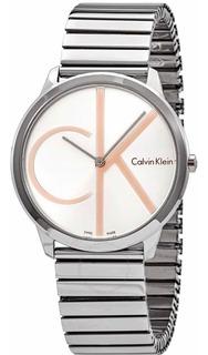Reloj Calvin Klein Hombre Swiss Made Minimal Silver K3m21bz6