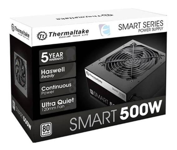 Fonte Gamer Thermaltake 500w Smart Series 80 Plus White C/nf