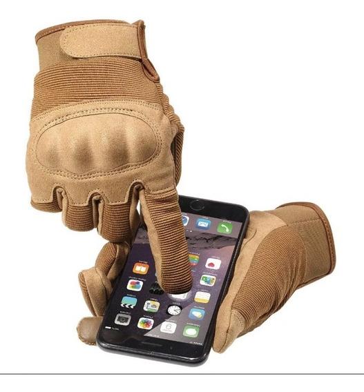 Guantes Tácticos Coyote Con Dedo Táctil Para Pantallas