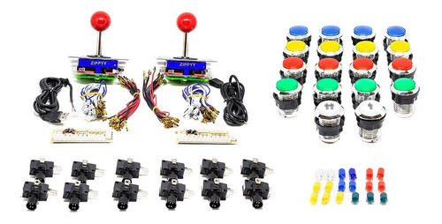 Kit De Controles Para Arcade Con Botón Para 2 Jugadores