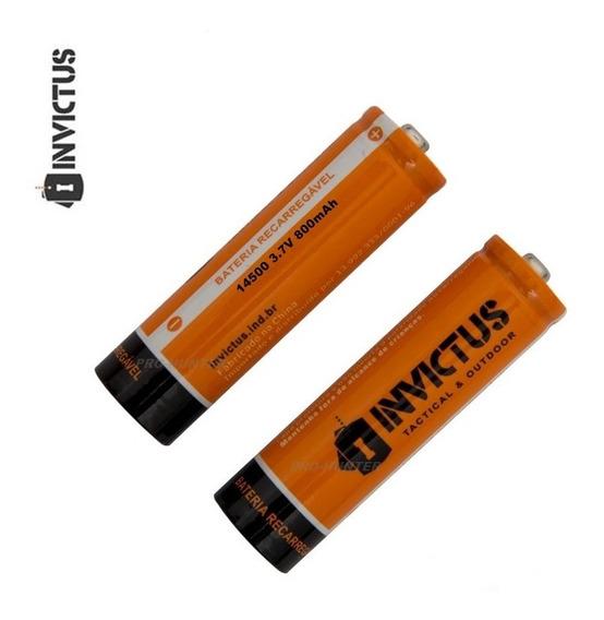 Mini Bateria Original Recarregável Modelo 14500 3.7v Li-ion