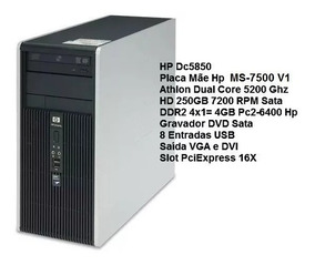 Computador Hp Dc5850 Athlon 5200 Ddr2 4gb Hd 250