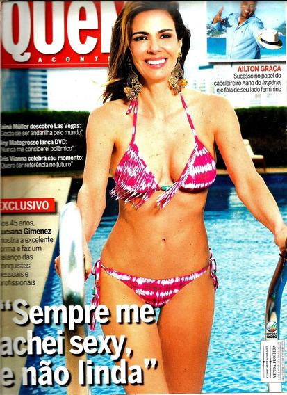 Revista Quem 743/14 - Xuxa/luciana/angélica/cris Vianna