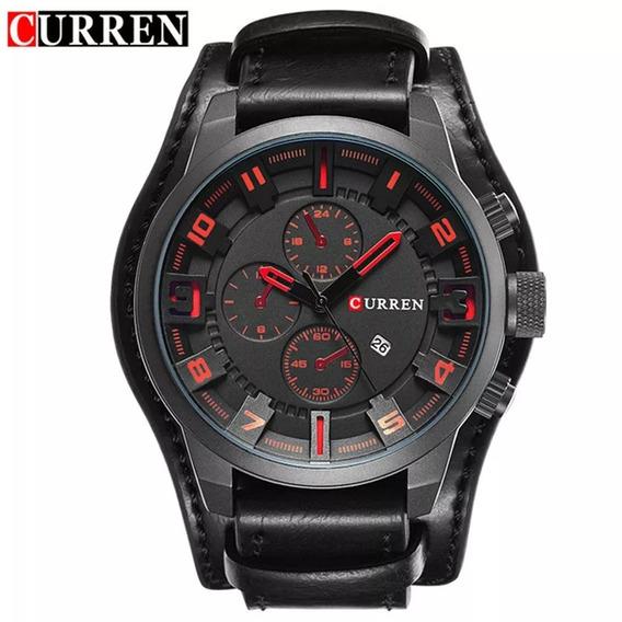 Relógio Curren 8225 Social Preto Na Caixa 100% Original