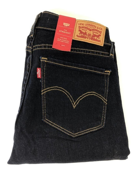 Calça Jeans Levis 714 Straight Escura