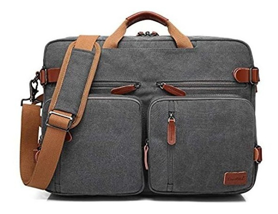 Bolso Maletín Hombre 2 En 1 Convertible Laptop Viaje Casual