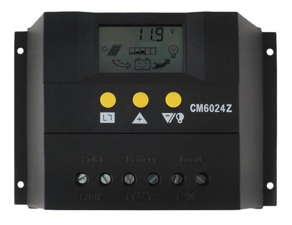Controlador De Carga 80a 12/24v Pwm Energia Solar C/ Lcd