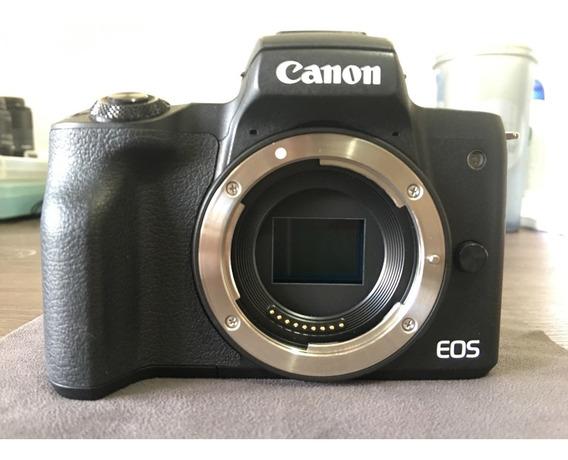 Canon Eos M50 + Lente Ef-m 15-45mm + Outros