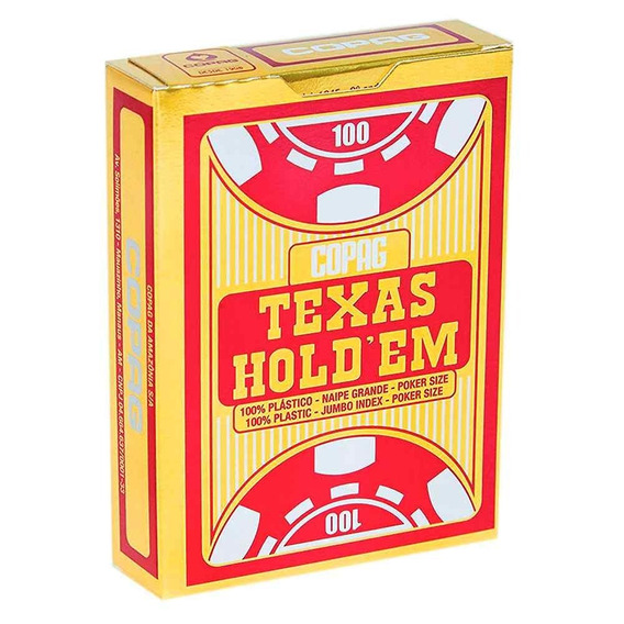 Baralho Poker Plastico Copag Texas Hold Em Naipe G Original
