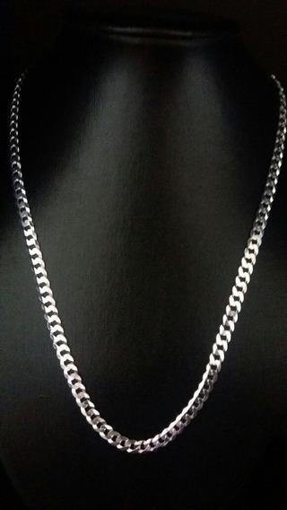 Corrente Prata 925 Maciça Grumet 60 Cm 19 Gramas 5mm