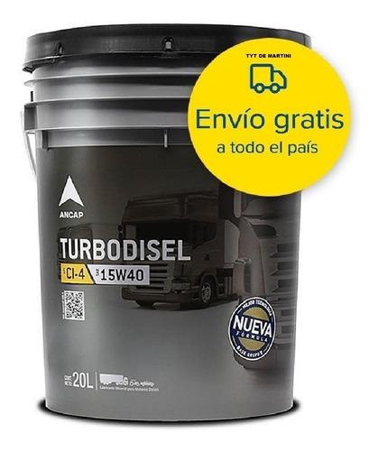 Aceite Para Diesel 15w40 Turbo Disel Ancap Lubricante 20 Lts