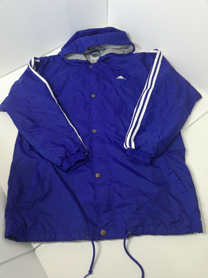 Jacket Hombre Chamarra Mediana Con Gorro adidas Azul