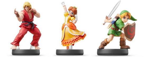 Amiibo Ken Daisy Young Link Zelda Ultimate Smash Bros Switch