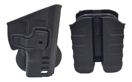 Imagem 1 de 6 de Coudre + Porta Carregador Duplo Externo Polímero G2c Destro