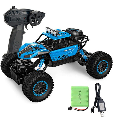 Carro Off-road Crawler 1:18 4wd 2.4 Ghz Automodelo Controle