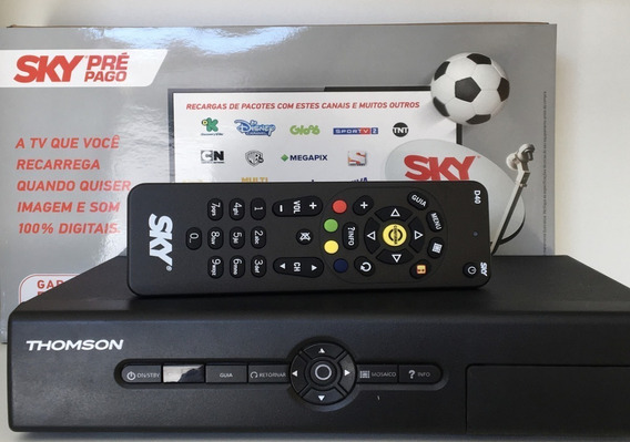 Receptor Sky Pre Pago Digital Ideal P/ Tv Tubo + Recarga