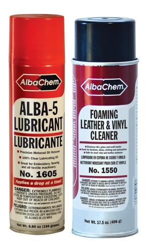 Limpiador De Cuero/vinil Y Alba 5 Lubricante Albachem
