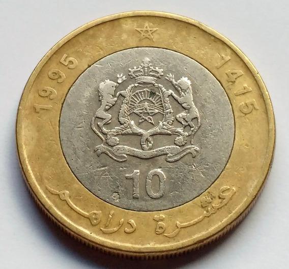 Moneda De Marruecos, 10 Dirhams 1995.