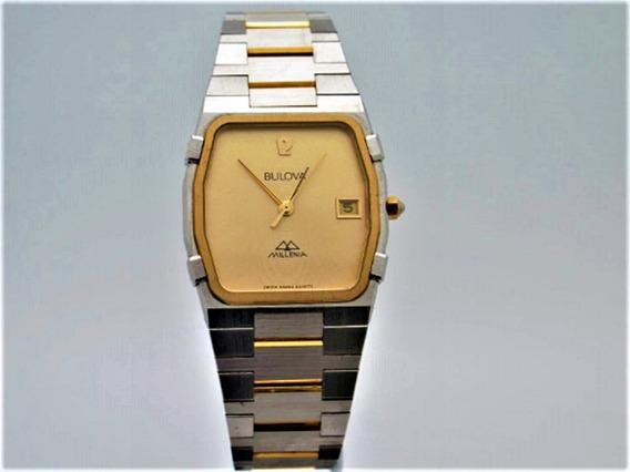 Relógio Bulova Millenia 83382, Original, Unisex, Dourado.