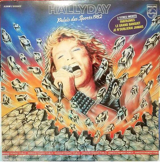 Disco Vinilo Hallyday Palais Des Sports 1982 Todelec