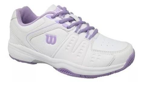 Zapatillas Tenis Wilson Mujer Game White Silver (l3w1a) S+w