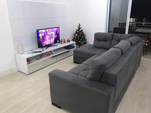 Imagem 1 de 22 de Apartamento Em Marapé, Santos/sp De 150m² 3 Quartos Para Locação R$ 5.200,00/mes - Ap1000946