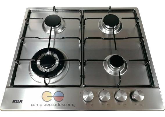 Rca Cocina Encimera Gas 4 Hornillas Empotrable Metálica
