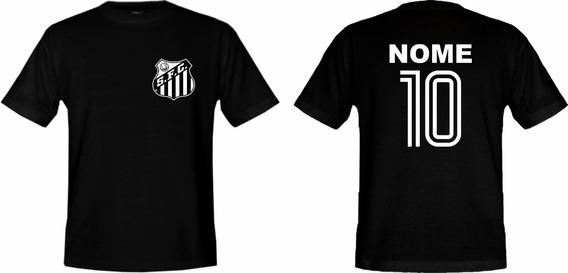 Camiseta Adulto Personalizada Do Santos !
