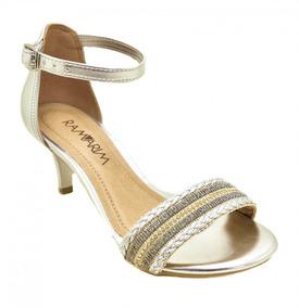 070039c7b7 Sandália De Salto Alto Ramarim (prata) - Sapatos no Mercado Livre Brasil