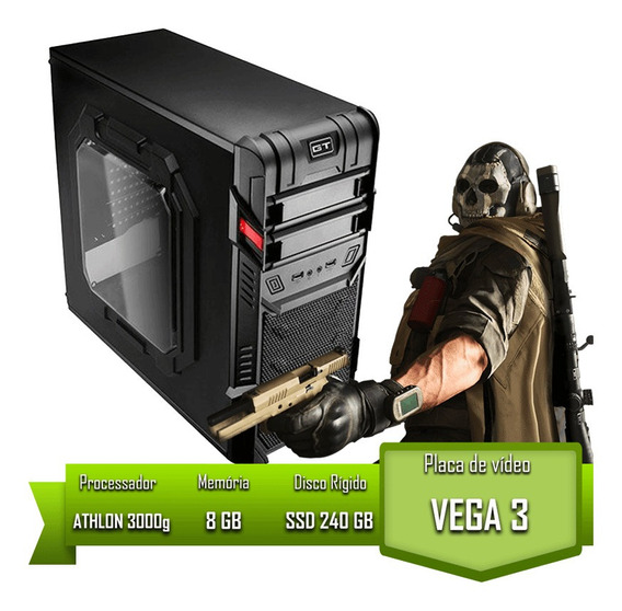 Pc Home Athlon 3000g / 8gb Mem / Ssd 240gb Garantia + Nf