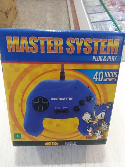 Console Master System Plug & Play Com 40 Jogos Na Memória Original Lacrado Novo
