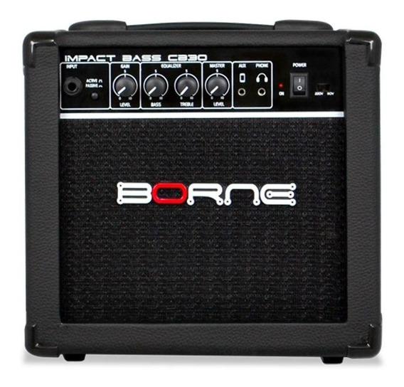 Amplificador Borne Impact Bass CB30 15W preto 220V/110V (Bivolt)