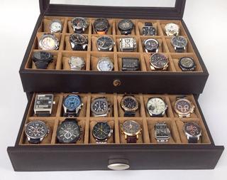 Estuche De Piel Para 36 Relojes