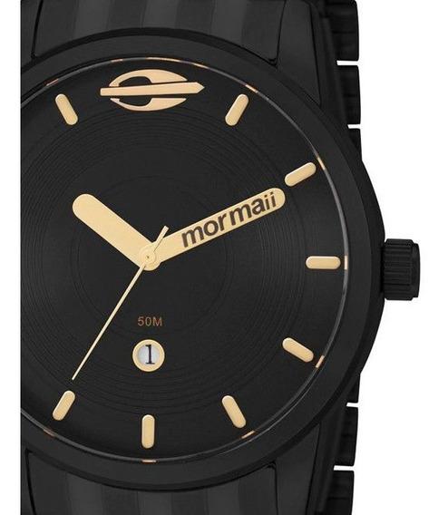 Relógio Masculino Preto Mormaii Mo2115aa/4p Original