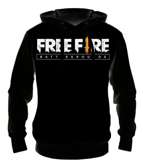 Blusa Moletom Infantil Free Fire Logo - 01 - Casaco De Frio