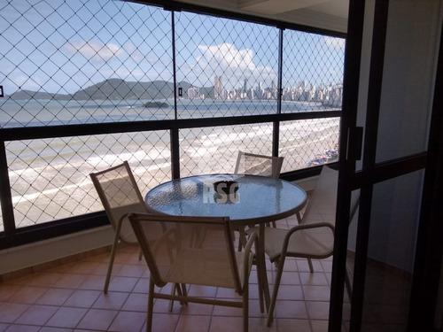 Imagem 1 de 23 de Excelente Apartamento Frente Mar, 3 Quartos Sendo 1 Suíte,sacada Com Churrasqueira, 2 Garagens - 293