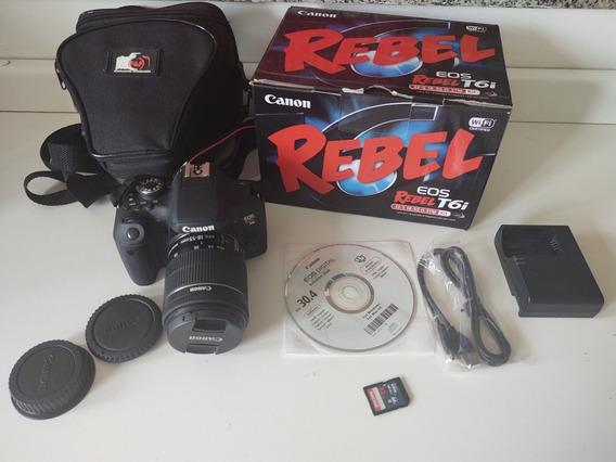 Câmera Canon T6i Usada + Lente 18-55