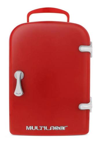 Imagem 1 de 5 de Mini Geladeira Portátil Multilaser Retrô Tv007 Vermelha 4l