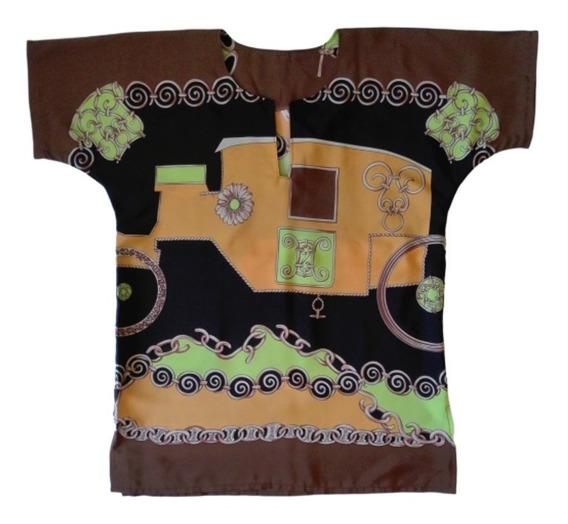 Blusas Estampadas De Poplin Diseño Propio
