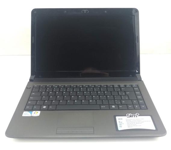 Notebook Sim+ Intel Duacore T4400 2gb Hd 160gb Seminovo