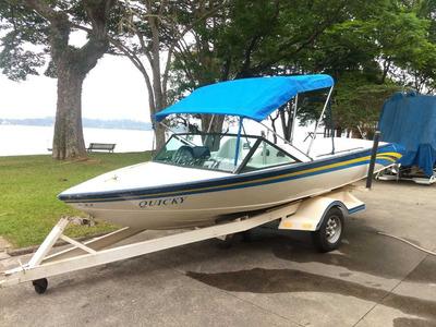 Lancha 20 Pés Ski Boat Aquático E Wake Board Na Guarapiranga