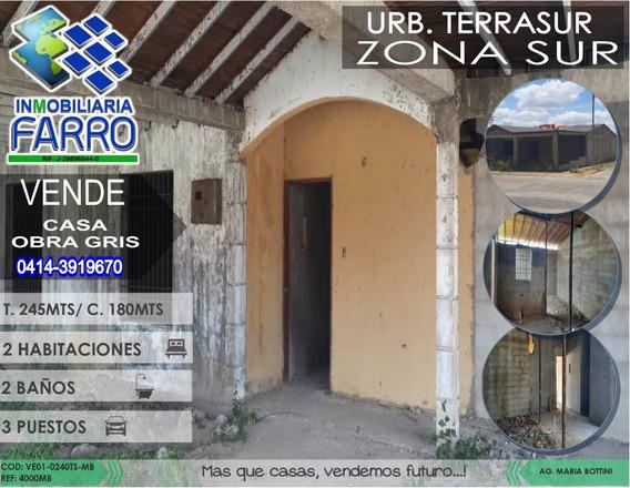 Venta De Casa En La Urb Terrasur Ve01-0240ts-mb
