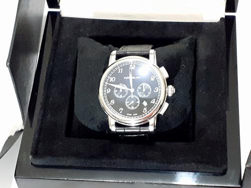 Relógio De Luxo Montblanc Pulseira Couro Bovino