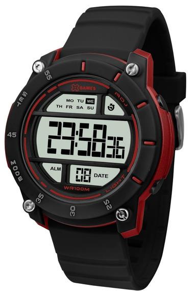 Relógio X-games Masculino Digital Xmppd518 Preto Vermelho