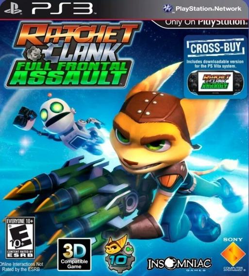 Ps3 Ratchet & Clank Full Frontal Assault - Psn Jogo Envio Já